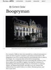 """Omul Negru I"" in Bucharest is featured in Revista Arta"