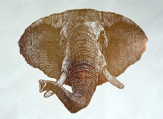 Gold Foil Elephant