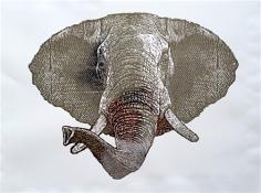 Silver Foil Elephant