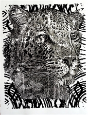 Black Foil Cheetah