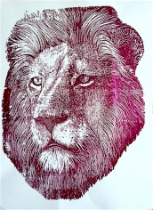 Red Foil Lion