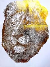 Gold Foil Lion