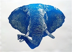 Blue Foil Elephant