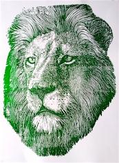 Green Foil Lion