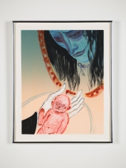 Sanya Kantarovsky,  Cleanse, 2019,  Monotype,  Printed by 10 Grand Press