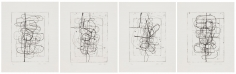 Christopher Wool, Untitled, 2018,  Portfolio of four intaglio polymer photogravure prints on Hahnemühle Copperplate Bright White 300 gsm paper, Edition of 20