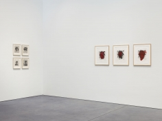 Prints and Editions  Installation view  January 25 – February 23, 2019  Luhring Augustine, New York  Pictured from left: Yasumasa Morimura, Christopher Wool