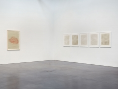 Prints and Editions  Installation view  January 25 – February 23, 2019  Luhring Augustine, New York  Pictured from left: Tunga, Rachel Whiteread