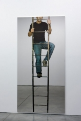 Michelangelo Pistoletto Uomo che sale la scala a pioli (Man climbing the ladder), 2008