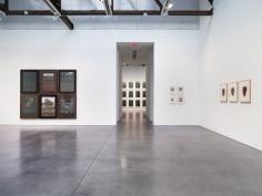 Prints and Editions  Installation view  January 25 – February 23, 2019  Luhring Augustine, New York  Pictured from left: Reinhard Mucha, Glenn Ligon, Yasumasa Morimura, Christopher Wool