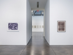 Prints and Editions  Installation view  January 25 – February 23, 2019  Luhring Augustine, New York  Pictured from left: Jeff Elrod, Rachel Whiteread, Zarina