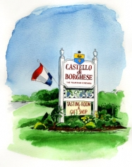 Castello di Borghese, the founding vineyard, On Cutchogue's North Road.