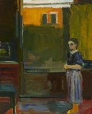Elmer Bischoff Woman with Striped Skirt