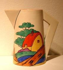 Orange Roof Cottage conical jug