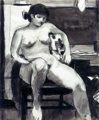Richard Diebenkorn Untitled (woman sitting in a chair)