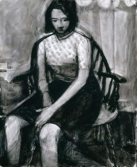Untitled charcoal and iink wash on paper