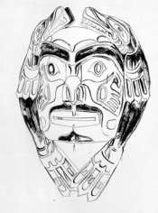 Andy Warhol Cowboys and Indians: Northwest Coast Mask