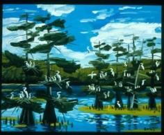 Rookery 2004 oil on panel