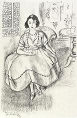 La robe d'organdi 1922,