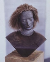 Serena 2000-2002 Wood, bronze and hair
