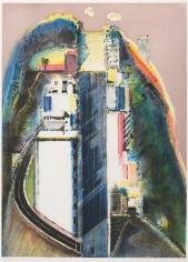 Wayne Thiebaud Steep Street, 1989