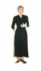Stephen Balkenhol Woman with Indigo Blue Dress, 1996