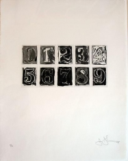 Jasper Johns Numerals 0-9, 1975