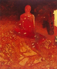 Nathan Oliveira Seated Figure Watching the Green War