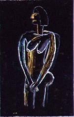 David Bates Black Nude I,2002