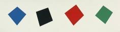 Ellsworth Kelly Blue/Black/Red/Green