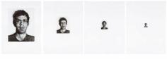 Chuck Close Bob I/154; Bob II/616; Bob III/2464; Bob IV/9856, 1973