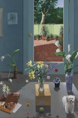 Still Life with Art Book and Garden View