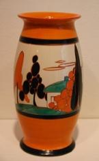 Orange Trees and House vase shape 264