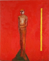 Nathan Oliveira Figure with Yellow Bar