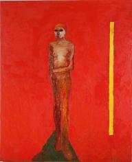 Nathan Oliveira Figure with Yellow Bar