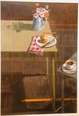 Paul Wonner Studio Two Tables Popover and Coffee, 2000