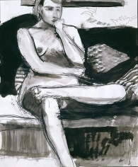 Untitled pencil and ink wash on paper