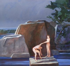 Theophilus Brown Two Figures on a Rock