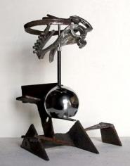 Untitled 2009 steel, stainless steel, mirror ball