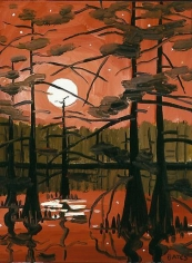 David Bates Grassy Lake - Moonlight