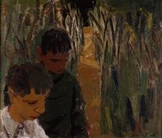 David Park Figures in a Landscape