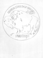 Andy Warhol Cowboys and Indians: Buffalo Nickel,1986