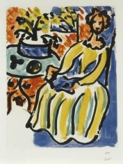Marie-Jose en robe jaune