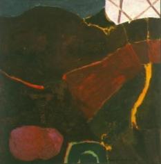 Rocks 1950 oil on canvas