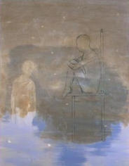 Milk 2002 oil and emulsified tar on canvas