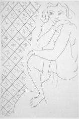 Henri Matisse Nu assis, fond de carreaux etoiles