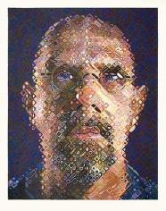 Chuck Close Self-Portrait Screenprint, 2007