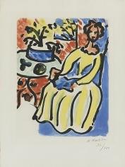 Marie-José en Robe Jaune (D. 817) 1950,