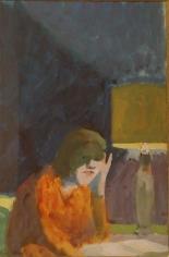 Paul Wonner Woman Reading, c. 1960
