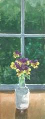 Flowers in Bottles: Johnny Jump-Ups